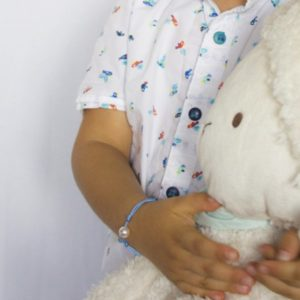 PACIFIC BABY +    Bracelet bébé perle et saphir bleu
