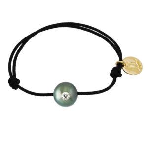 BABY VIP   Bracelet bébé perle de Tahiti, diamant et or 18K