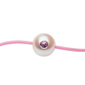 SWEET BABY +    Bracelet bébé perle de culture et saphir rose