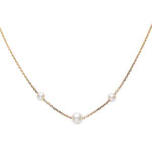 JOLIES PERLES      Collier chaîne en or et perles d'Akoya